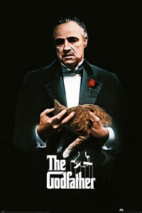 """The Godfather - Movie Poster (Don Corleone - Ginger Cat & Red Rose) (24"""" X 36"""")"""