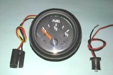 "Fuel gauge, 12V 2""/ 52mm with wire harness black 10-180 ohms"