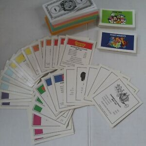 Monopoly Disney Edition '01  Money, Property, Magic Moments & Show Time Cards