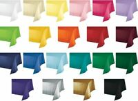"""3-Pack 54"""" x 108"""" Disposable Plastic Rectangular Tablecloth Table Covers Party"""