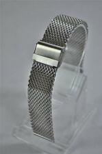 Shark Mesh Watch Bracelet fits 22mm Lug Seiko, Citizen, Omega. Fully Adjustable