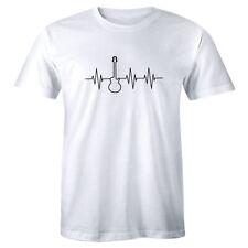 Heartbeat Guitar Shirt Music Festival Rock Group Famous Men's T-shirt Tee