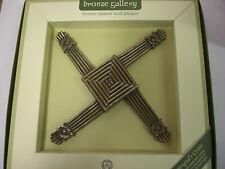 IRELAND BRONZE PLATED WALL PLAQUE ST. BRIGIDS CROSS CELTIC SHADOWS CELTIC DESIGN