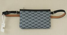 NWT MICHAEL KORS MK Signature Genuine Leather Fanny Pack Belt Bag 551749C M Navy