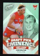 2013 AFL Select Prime Draft Pick Eminence Card DPE87 Jude Bolton (Sydney Swans)