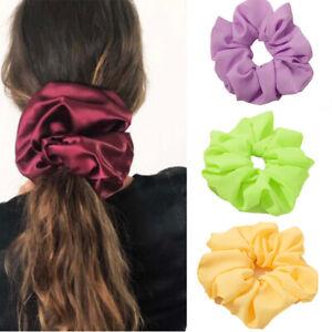 3Pcs Oversized Hair Scrunchies Elegant Sweet Large Elastic Hair Bands Tie Rope#A