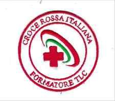 [Patch] CROCE ROSSA ITALIA CRI FORMATORE TLC cm 7,5 diametro toppa ricamo -814