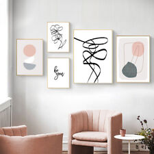 Abstract Shape Canvas Poster Geometric Line Drawing Wall Art Print Home Decor