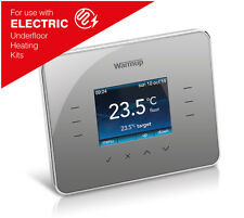 Warmup 3ie TouchScreen Digital Thermostat with Energy Management - Silver Grey