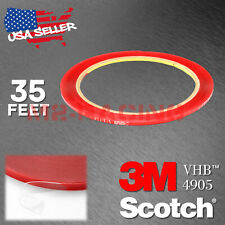 Genuine 3M VHB #4905 Double-Sided Mounting Foam Tape Automotive Car 2mm x 35FT