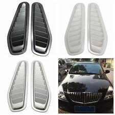 Popular 1 Pair Black Car Fender Air Flow Intake Scoop Turbo Bonnet Vent Cover