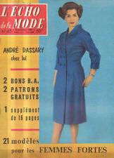 echo de la mode N°45 andre dassary catherine langeais 1959