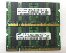 Samsung 4GB 2X2GB DDR2 800 laptop Memory PC2-6400S-666-12 Laptop SO-DIMM RAM