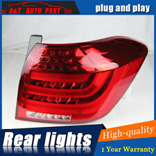 LED Rear Lights Assembly For Toyota Highlander 11-13 Dark / Red LED Tail Lamps