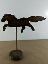 Horse Weathervane Decor Running Wooden Vintage Rustic Farmhouse G