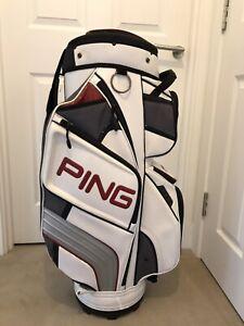 Ping DLX Cart Bag. Very Good Condition + NEW Hood & Original Strap.