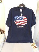 New listing Patriotism An American Tradition T-Shirt Navy W/Flag Design Size 2Xl-Nwt