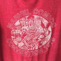 Marvel Comics Convention 1975 Tee Shirt Stan Lee Cotton Men's Small S