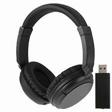 Black 2.4G Hz Wireless TV Headset Over-Ear Headphone for TV Computer Laptop
