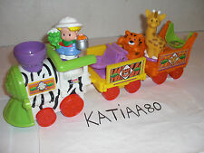 TRAIN MUSICAL DU ZOO LITTLE PEOPLE 2007 FISHER PRICE REF M0532 / TIGRE GIRAFE
