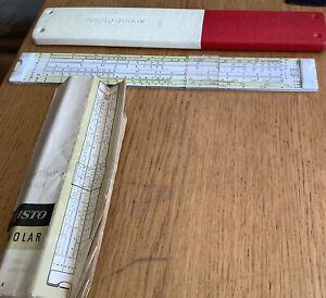 vintage slide rule Aristo - scholar with Instruction Manual + Case