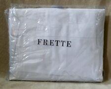 FRETTE Queen 4 piece 100% Cotton White Percale Sheet Set