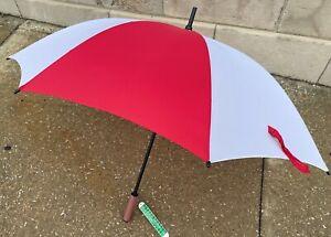 "Vintage ARAMIS Winning Colors Red White IU Football Grip 50"" Stadium Umbrella"