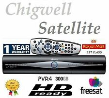 Sky+ Plus HD PVR4 Satellite Receiver Box Used Remote Control and Leads