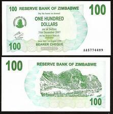 ZIMBABWE 100 Dollars 2006 UNC P 42