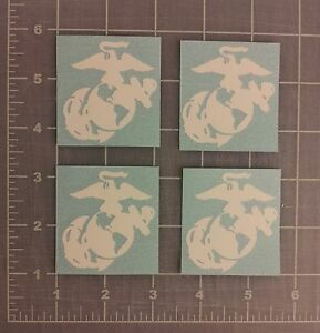 4 Little EGA Stickers USMC Eagle Globe Anchor Decals Marine Corps Veteran