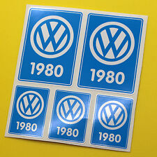 VW 1980 VOLKSWAGEN Year Date stickers INSIDE GLASS BEETLE CAMPER T3 Rabbit