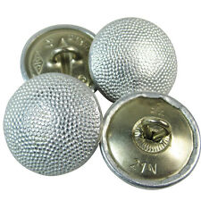 Shoulder Board Buttons - 4 Pack German Army WW2 Repro Silver Pebbled Button 17mm