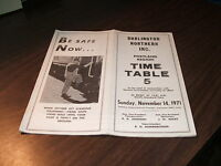 NOVEMBER 1971 BURLINGTON NORTHERN PORTLAND REGION EMPLOYEE TIMETABLE #5