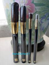 4pc Estee Lauder Blue Brush Set ~Powder Blush Eye Lip~