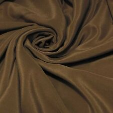 "0.5 yards 45"" wide 12mm crepe de chine silk dress fabric milk chocolate buy"
