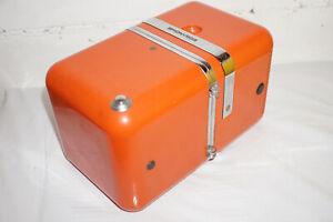vintage Brionvega Cubo Design Radio Würfel in orange
