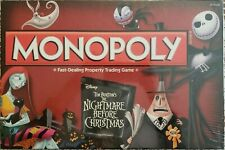 Monopoly Tim Burton's The Nightmare Before Christmas Board Game - New In Box