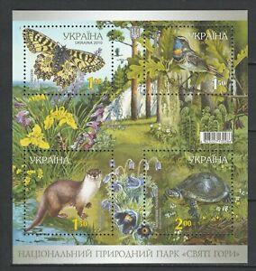 Ukraine 2010 Fauna Birds Animals Butteflies MNH Block