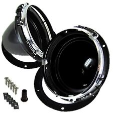"7"" Headlight Headlamp Adjuster Mounting Bowls Gasket Chrome Rim Classic Mini"