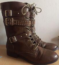Ladies New Look Brown Boots Size 4 (Goth/Steampunk/Warrior)