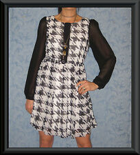 Unbranded Knee Length Houndstooth Dresses for Women