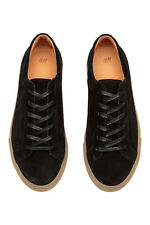 08fdd3aead9c H M Edition Premium Black Suede Low Top Contrasted Sneaker Size 8 8.5  120  Aldo