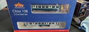 Bachmann 32-904DC OO Gauge Class 108 2 Car DMU BR Blue & Grey