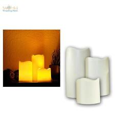 3 Set LED Candle With Timer for Outdoor Flameless Elktrisch