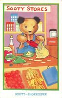 POSTCARD  CHILDREN  TEDDY  BEAR  Related  SOOTY   Shopkeeper