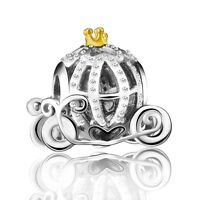 European Beautiful Princess Dress Charms Bead Fit 925 Silver Bracelets Necklace