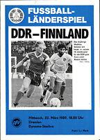 Länderspiel 22.03.1989 DDR - Finnland in Dresden