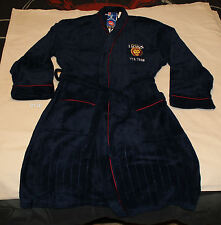 Brisbane Lions AFL Mens Est Navy Blue Fleece Dressing Gown Robe One Size New