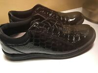 DREW SHOES TULIP BLACK PATENT LEATHER CRIC WOMENS COMFORT OXFORD 7.5N