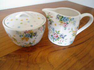 Ashdene Milk Jug & Sugar bowl  'Floral' design - Chris Chun 2006 - Like new !